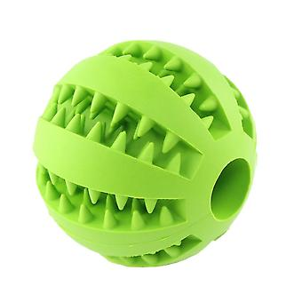 5cm Green Dog Pet Toy Chew Clean Rubber Ball