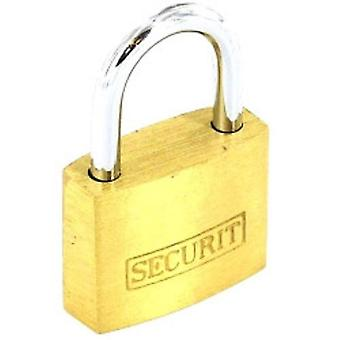 Securit Brass Padlock With 3 Keys