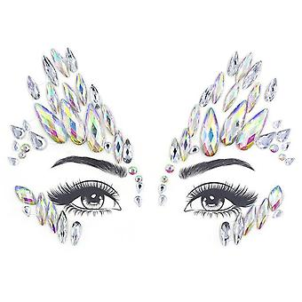 Glitter Face Jewelry Sticker - Temporary Tattoo For Party, Makeup - Rhinestones