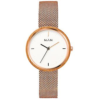 Mam Flat Watches Watch for Women Analog quartz Japanese quartz with 669 stainless steel bracelet