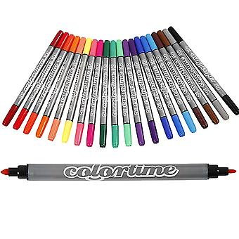 20 Dual Ended Waterbased Felt Tip Pens for Crafts | Stationery Back to School