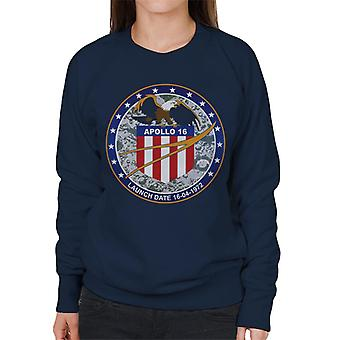 NASA Apollo 16 Mission Badge Women's Sweatshirt