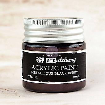 Finnabair Art Alchemy Acrylic Paint Metallique Black Berry