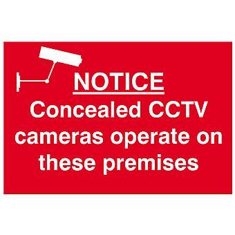 Scan Notice Concealed CCTV Cameras Operate On These Premises - PVC 300x200mm
