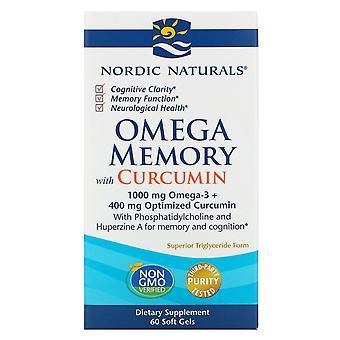 Nordic Naturals, Omega Memory med Curcumin, 1 000 mg, 60 Soft Gels