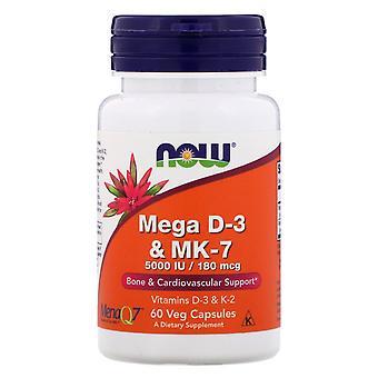 Nu Foods, Mega D-3 & MK-7, 60 vegetarisch capsules