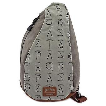 Loungefly Harry Potter Sling Canvas Flip Backpack Bag