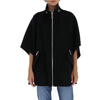Michael Von Michael Kors Mu02j65gbx001 Frauen's schwarze Wolle Poncho