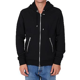 Balmain Uh13249i307eab Men's Black Cotton Sweatshirt