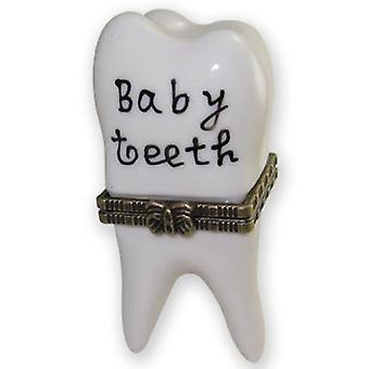 Cute First Baby Tooth Teeth Hinged Trinket Box