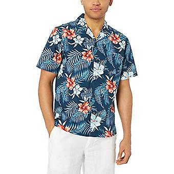 Brand - 28 Palms Men's Standard Relaxed-Fit 100% Cotton Tropical Hawai...