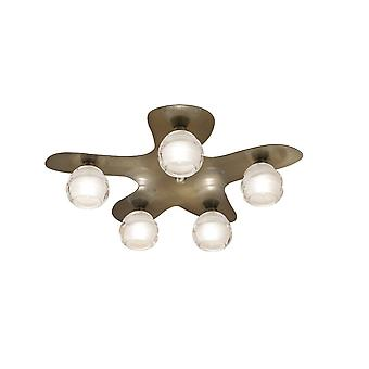 Inspired Mantra - Loop - Ceiling 5 Light G9 ECO, Antieke Messing