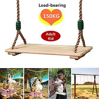 Indoor Outdoor Playhouse Wooden Garden Swings For Adults And Children Toy With Rope