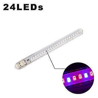 24-leds مصنع النمو مصباح Usb المحمولة أدى إلى زيادة الضوء الطيف الكامل في Phyto Led-المتزايد الأضواء مدعوم من Dc5v