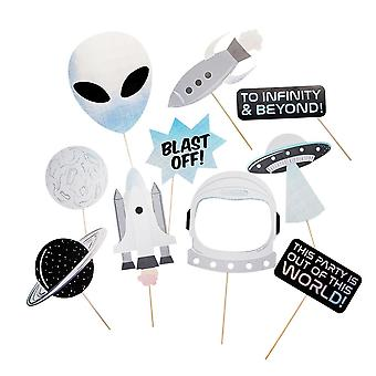 Space Alien Party Photo Booth Rekvisitter x 10 Party Spil