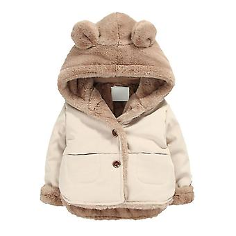 Autumn Winter Baby Soft Jacket Cartoon Hooded Coat