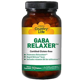 Country Life Relaxer gaba + B-6 RR, 90 tabia