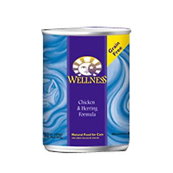 Wellness Canned Cat Food, Kana ja silli 5,5 unssia (tapaus 3)