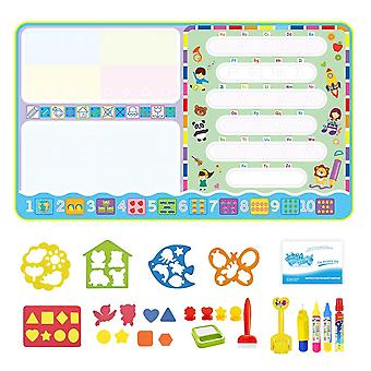 Magic Water Drawing Mat, Doodle Pens Stamps Set, Painting Board Educational