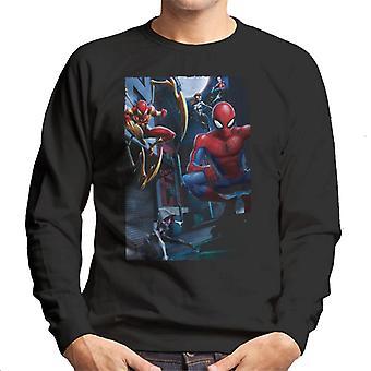Marvel Spider-Man Spider-Verse Heroes Street Montage Miehet'S Collegepaita