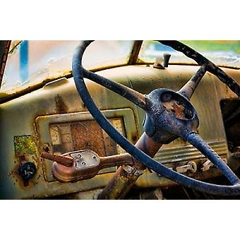 Old Truck IV Poster Print by Kathy Mahan