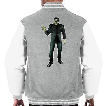 Frankenstein Monster Pose Men's Varsity Jacke