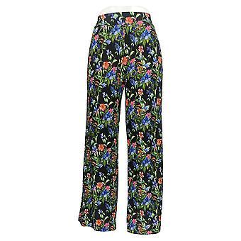 BROOKE SHIELDS Timeless Women's Petite Pants PXSP Wide-Leg Black A350192