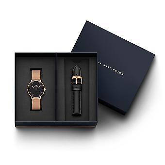Daniel Wellington DW00500981 Petite Melrose Watch And Black Strap Giftset