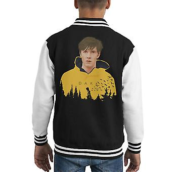 Dark Jonas In Raincoat Forest Silhouette Kid's Varsity Jacket