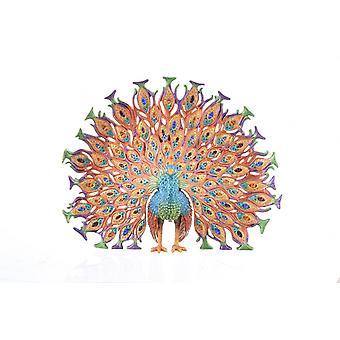 الملونة الطاووس- trinket مربع