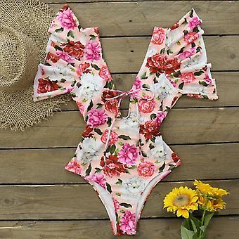 Naisten uimapuku, Deep-v Uimapuvut Beach Wear Bodysuit