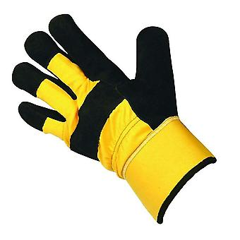 Briers Professional Heavy Duty Tough Thermal Rigger Gloves, Yellow/Black, Large