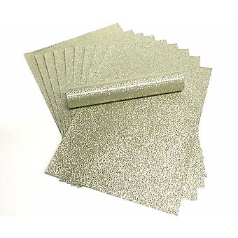 A4 Pale Gold Glitter Papper Soft Touch Icke Shed 150gsm Pack av 10 ark