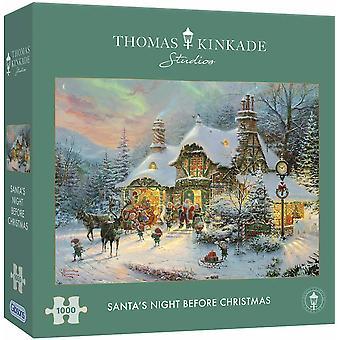 Gibsons Puzzle Santa's Nacht vor Weihnachten 1000 Stück Thomas Kinkade
