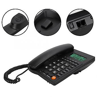 Landline Phone Caller Id Telephone Desktop Corded Dial Back Number Storage