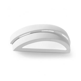Helios keramik / hvidt glas væg lys 1 lys