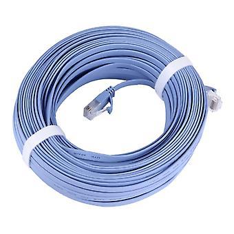 CAT6 فائقة رقيقة شبكة إيثرنت مسطحة LAN كابل، طول: 30m (الأزرق)
