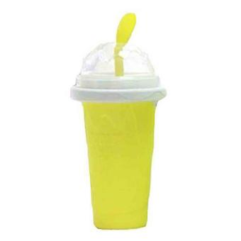 Milkshake Bottles Quick Cooling Cup Reusable Smoothie Cup Yellow
