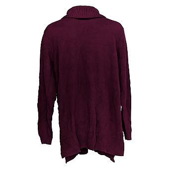 Joan Rivers Classics Collection Kvinder's Sweater Turtleneck Lilla A343430