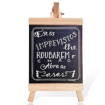 Pine Wood Easel Wooden Memo Desktop Message Blackboard/chalkboard