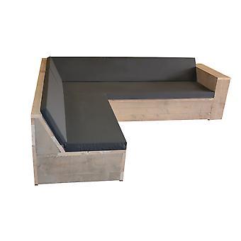 Wood4you Loungeset 1 Gerüstholz 240x200 cm - L-Form - inkl. Kissen