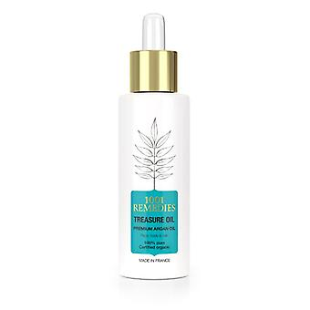 100% Natural pure argan oil for hair & face usda certified, vegan & cruelty free - treasure oil made in france