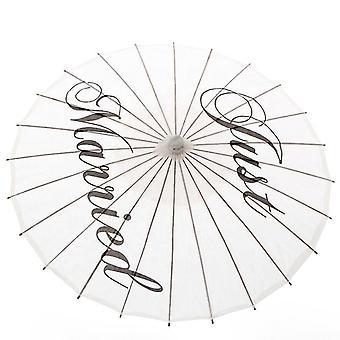 Hecho a mano estoy casado pintado sombrilla parasol prop de boda, fiesta de la novia