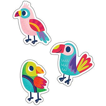 One World Parrots Cut-Outs, Pack Of 36