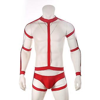 Body Harness Elastic Bondage Set, Underwear Men Chest Shoulder Strap
