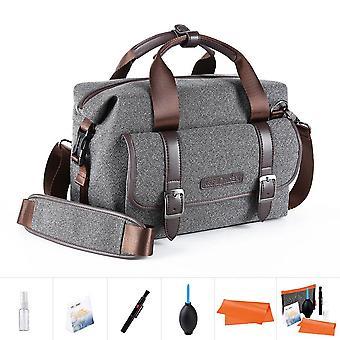 K&f concept portable waterproof camera gadget dslr shoulder/messenger bag unisex middle size grey fo