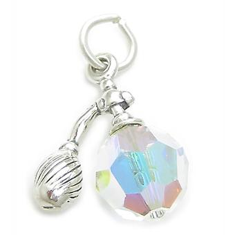 Perfume Bottle Sterling Silver Charm .925 X 1 Perfumes Atomizer Charms - 3453