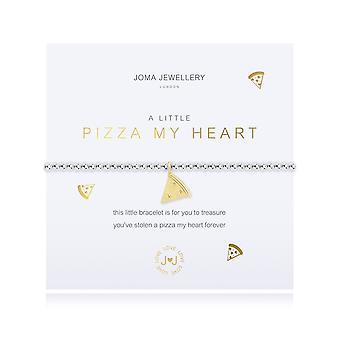 Joma Sieraden Een beetje pizza My Heart Silver 17.5cm Stretch Bracelet 4354