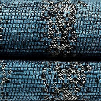 McAlister tekstiilit kuvioitu Chenille denim sininen kangas näyte