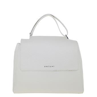 Orciani Bt2006softbianco Women's White Leather Handbag